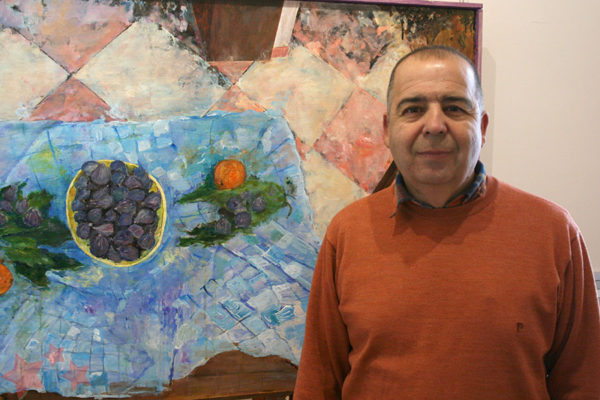 Obra ganadora en la pasada edición con su autor Paco Solano