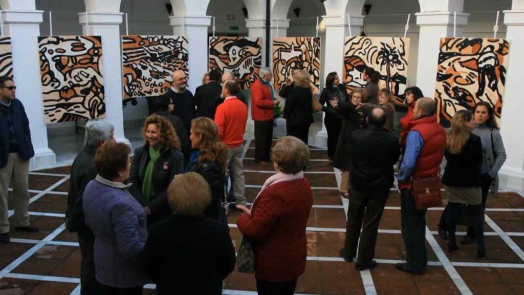 Se clausura la exposición de Agüera con la entrega de las obras a promotores y centros educativos