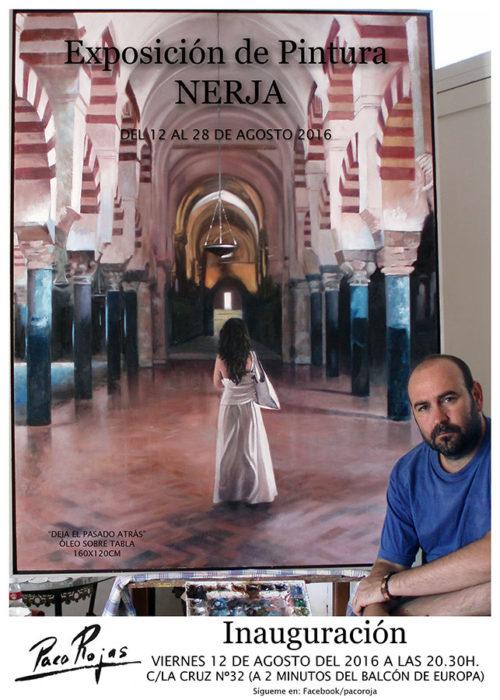 Cartel de la exposición de Paco Rojas en Nerja