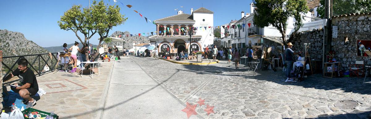 Aspecto de la Plaza de San Antón durante el concurso