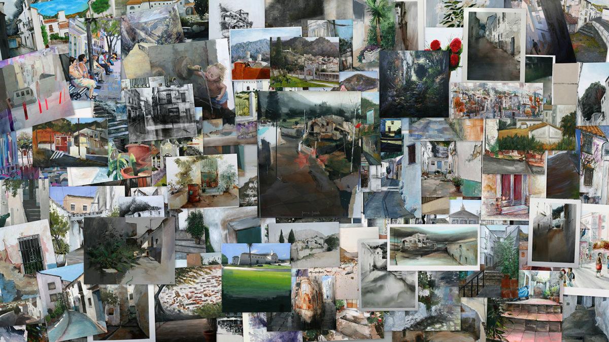 Collage obras presentadas a concurso