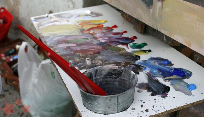 Paleta de pintura de Mancilla