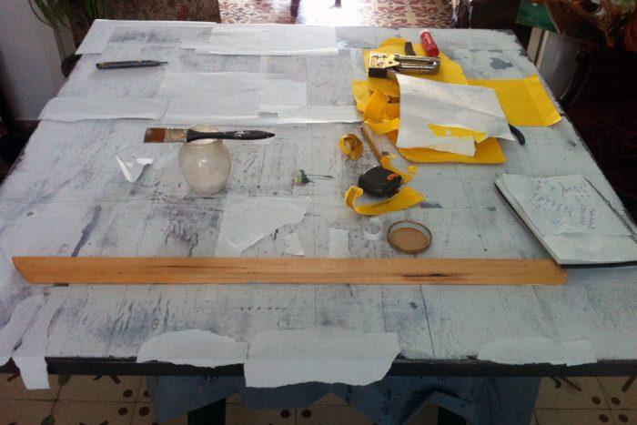 Proceso de elaboración del cuadro de Paco Rojas