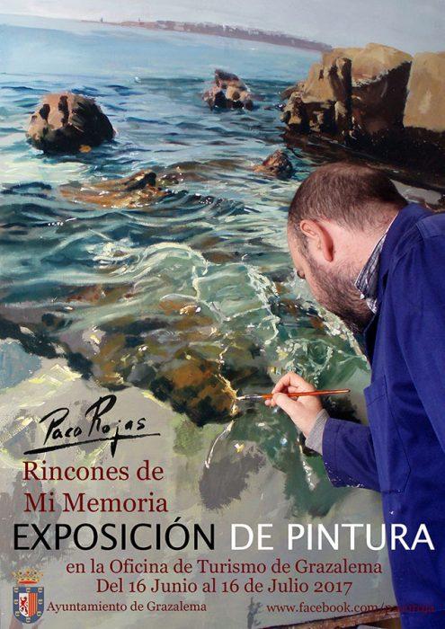Carte de la Exposición de Pinturas de Paco Rojas en Grazalema