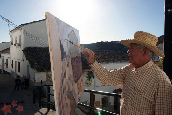 Agüera pintando en Ubrique