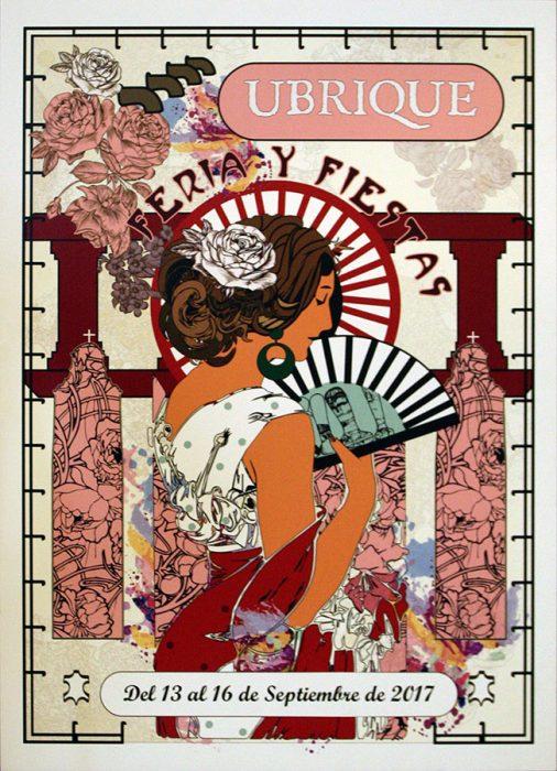 Cartel de la Feria y Fiestas de Ubrique 2017