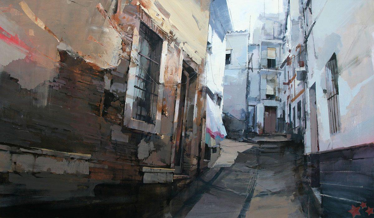 Obra ganadora del VII Concurso Pintura Rápida del malagueño Cristóbal León García