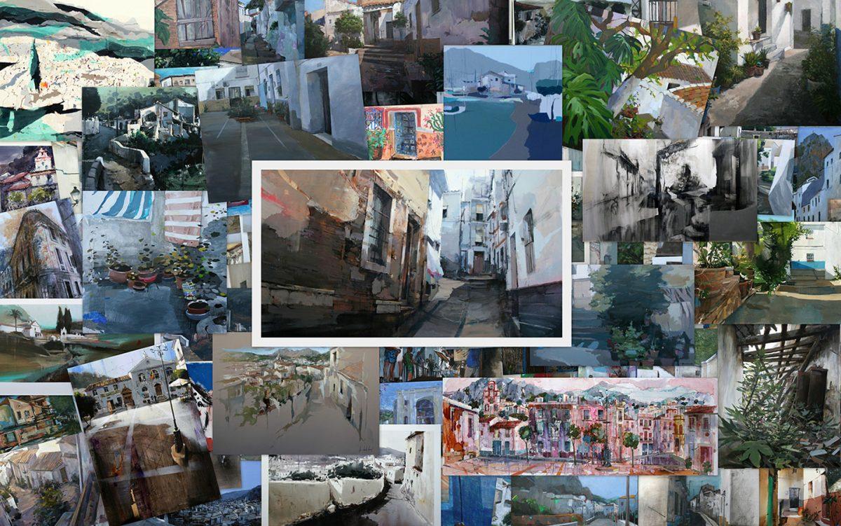 Collage con los cuadros del concurso