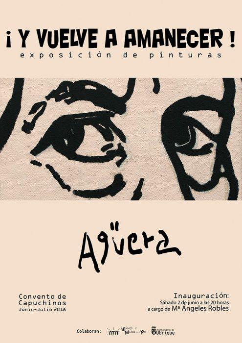 Cartel exposición ¡Y vuelve a amanecer! de Agüera