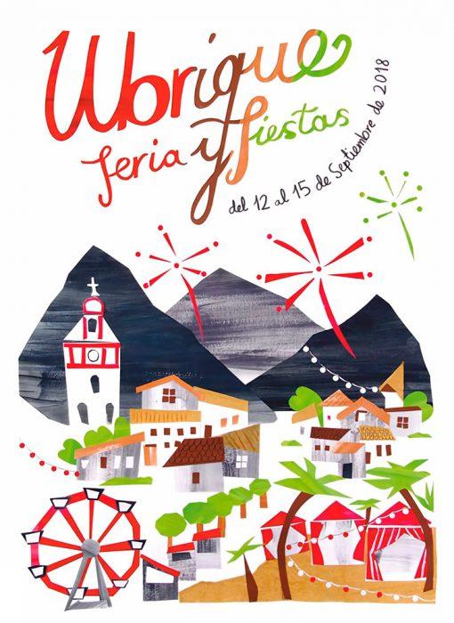 Cartel Feria y Fiestas Ubrique 2018