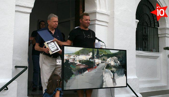 Entrega primer premio Concurso Pintura Rápida