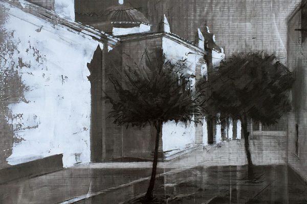 Detalle de la obra de Pazo Rojas premiada en La Zarza