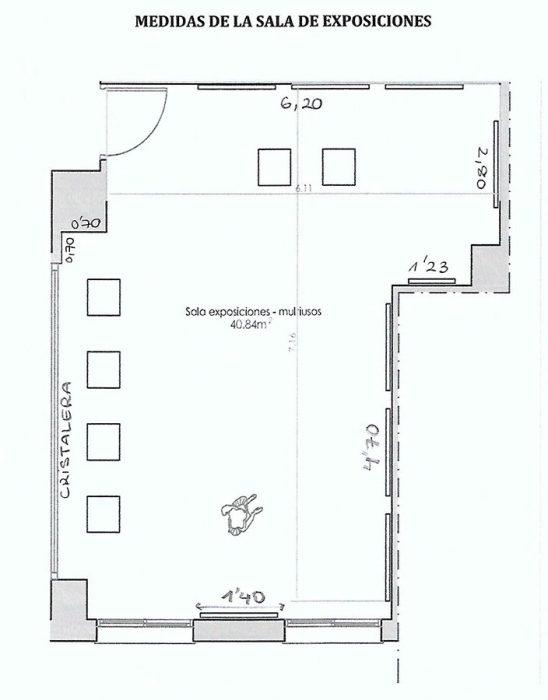 Medidas sala de exposiciones