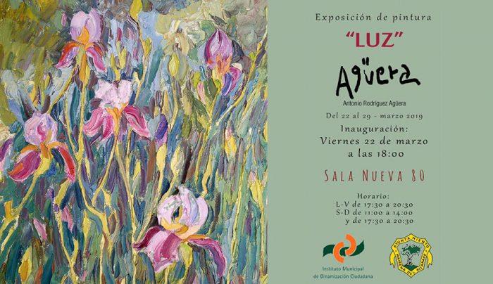 Cartel de la exposición 'LUZ' de Agüera