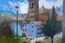 Detalle de la obra de Paco Rojas premiada en Montefrío