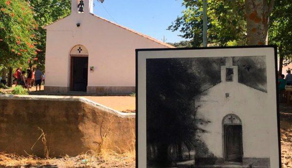 Pintura de Paco Rojas en Piedrabuena