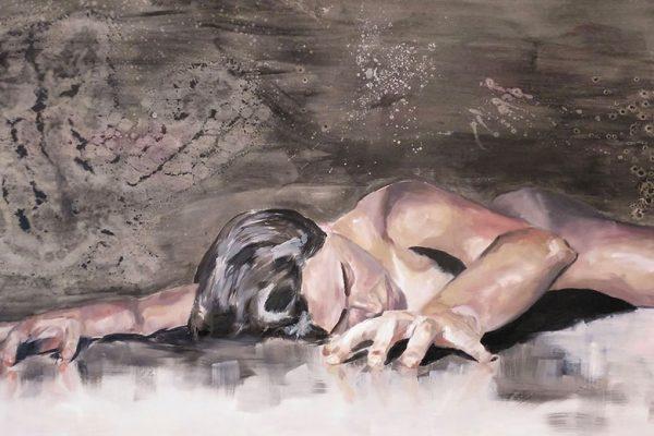 Detalle de una obra de Ángela Gómez