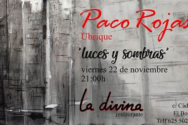 Cartel de la exposición de Paco Rojas