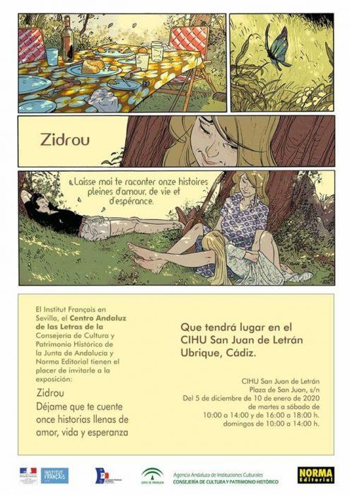 Cartel de la exposición de Zidrou