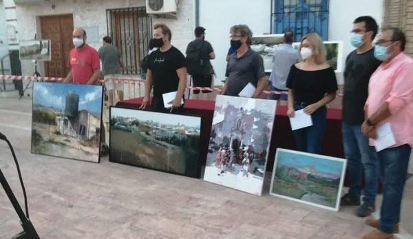 Paco Rojas junto a los ganadores de Encinas Reales