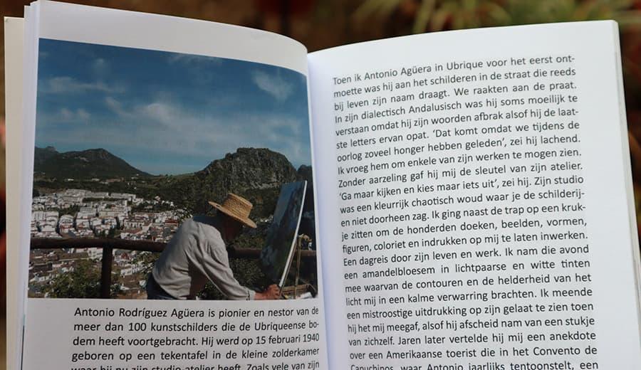 Comienzo del capítulo dedicado a Ubrique y sus pintores